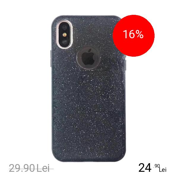 STAR Husa Capac Spate Shine Negru APPLE iPhone X