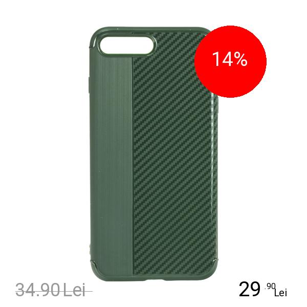 STAR Husa Capac Spate Carbon Verde Apple iPhone 7 Plus, iPhone 8 Plus