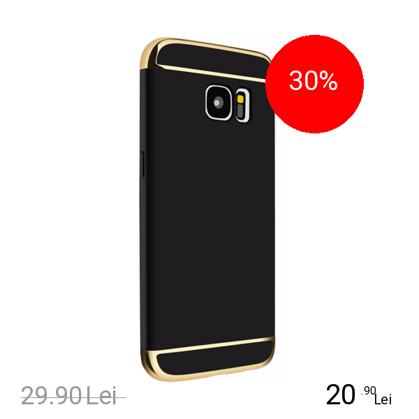 STAR Husa Capac spate Case Negru Samsung Galaxy S7 Edge
