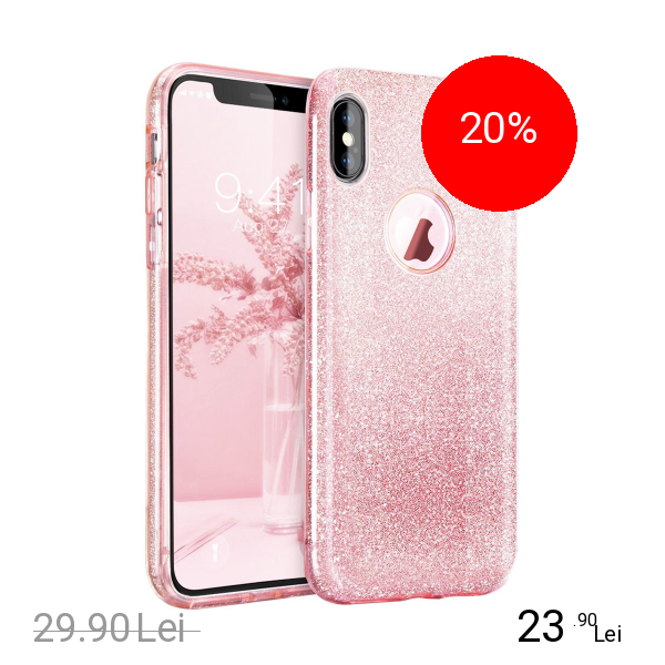 STAR Husa Capac Spate Shine Roz APPLE iPhone X