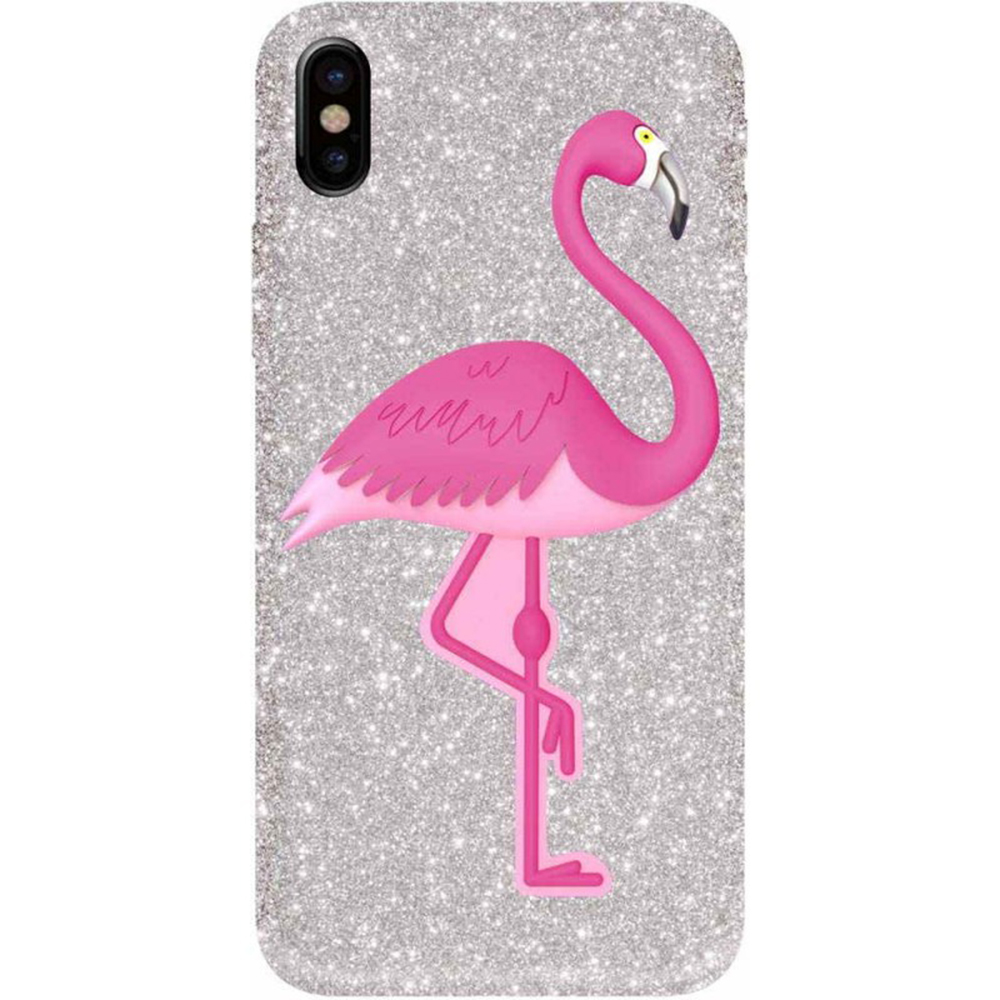 BENJAMINS Husa Capac Spate Flamingo APPLE iPhone X