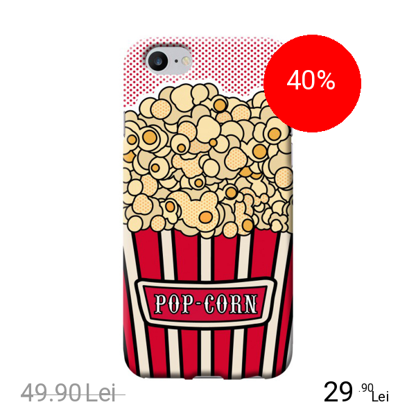 BENJAMINS Husa Capac Spate Pop Corn Apple iPhone 7, iPhone 8