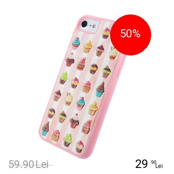BENJAMINS Husa Capac Spate Cupcake Apple iPhone 7, iPhone 8