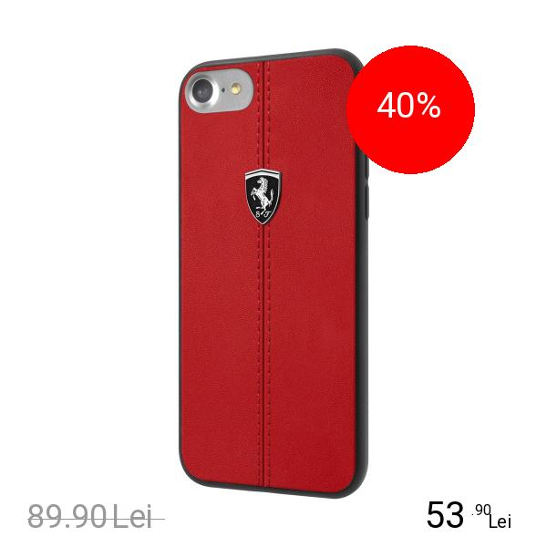 Ferrari Husa Capac Spate Heriatge Rosu Apple iPhone 7, iPhone 8