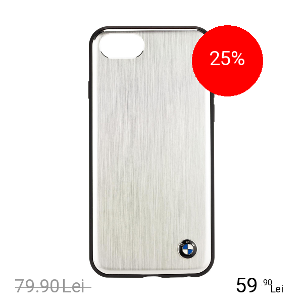 Bmw Husa Capac Spate Aluminium Argintiu Apple iPhone 7, iPhone 8