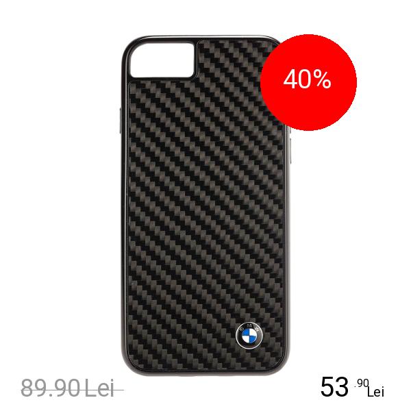 Bmw Husa Capac Spate Carbon Apple iPhone 7, iPhone 8
