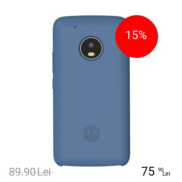 Motorola Husa Capac Spate Moto G5 Silicon Albastru MOTOROLA Moto G5 Plus