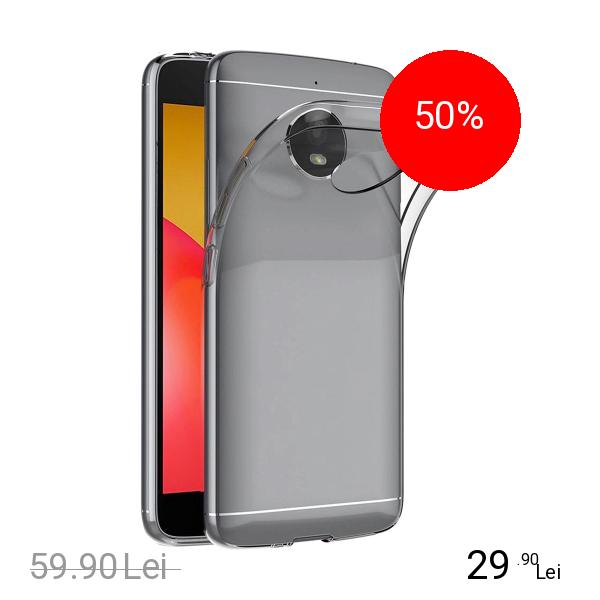 Motorola Husa Capac Spate + Folie De Protectie Transparent MOTOROLA Moto E4