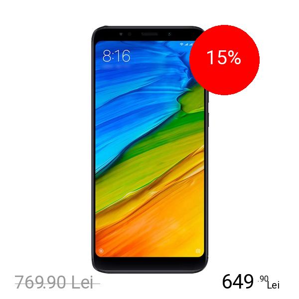 Xiaomi Redmi 5 Plus Dual Sim 32GB LTE 4G Negru 3GB RAM