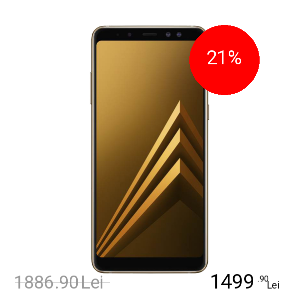 Samsung Galaxy A8 2018 Dual Sim 64GB LTE 4G Auriu 4GB RAM