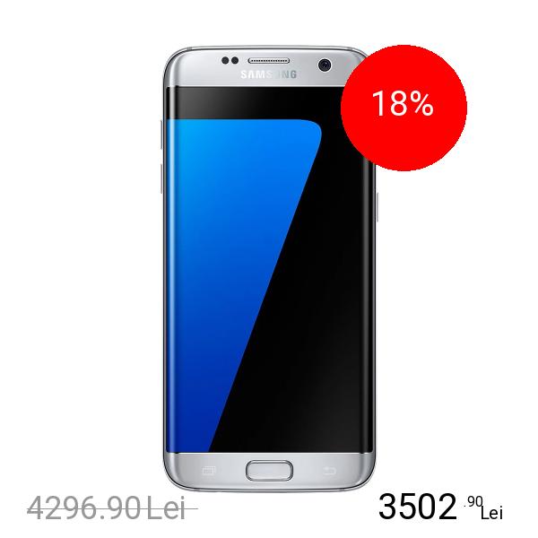 Samsung Galaxy S7 Edge Dual Sim 32GB LTE 4G Argintiu 4GB RAM