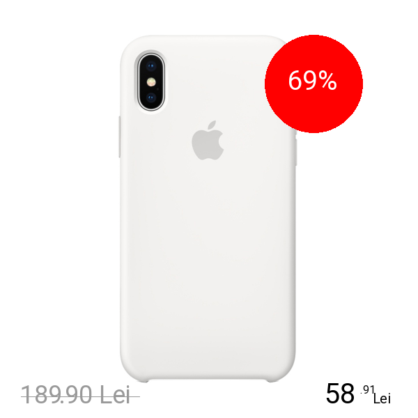 Apple Husa Capac Spate Silicon Alb APPLE iPhone X