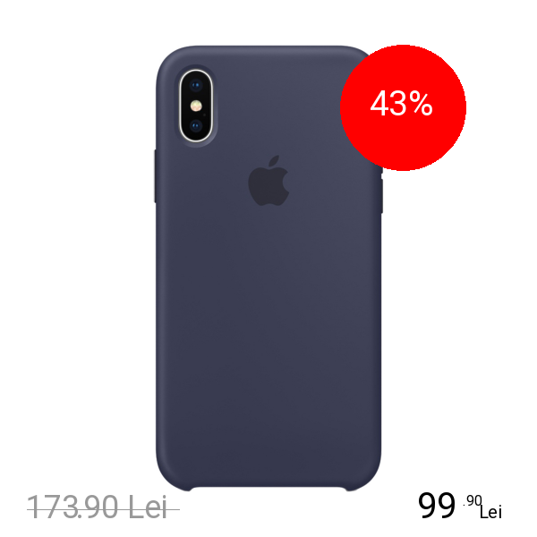 Apple Husa Capac Spate Silicon Albastru APPLE iPhone X