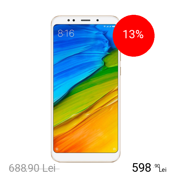 Xiaomi Redmi 5 Dual Sim 16GB LTE 4G Auriu