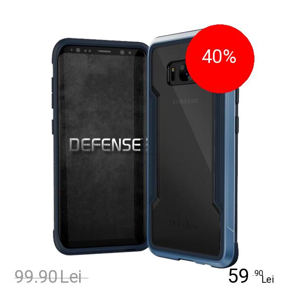 X-Doria Husa Capac Spate Defense Shield Metallic Negru SAMSUNG Galaxy S8