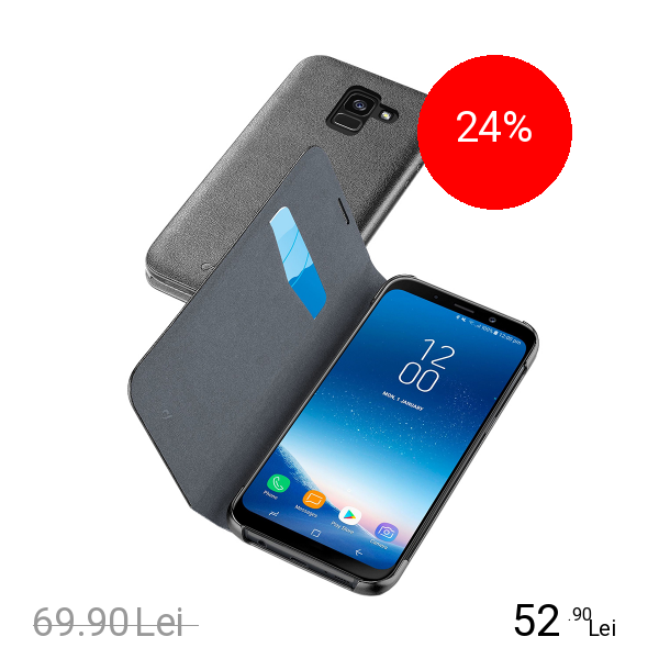 Cellularline Husa Agenda Negru SAMSUNG Galaxy A8 (2018)