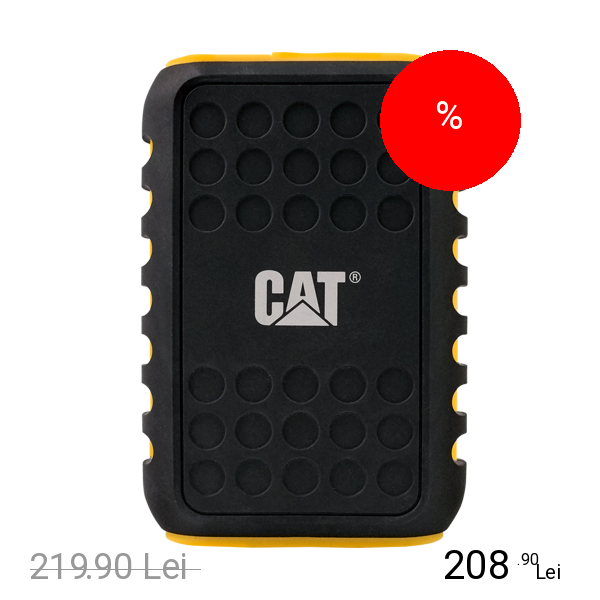 CAT Baterie Externa Urban Rugged 10.000mAh With LED Torch IP65