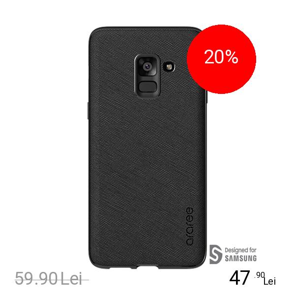 ARAREE Husa Capac Spate Airfit Negru SAMSUNG Galaxy A8 Plus (2018)