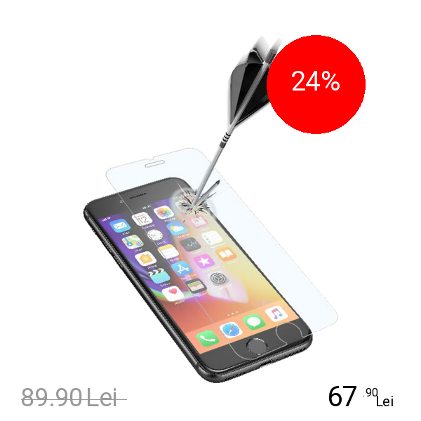 Cellularline Sticla Securizata Clasica Apple iPhone 7, iPhone 8
