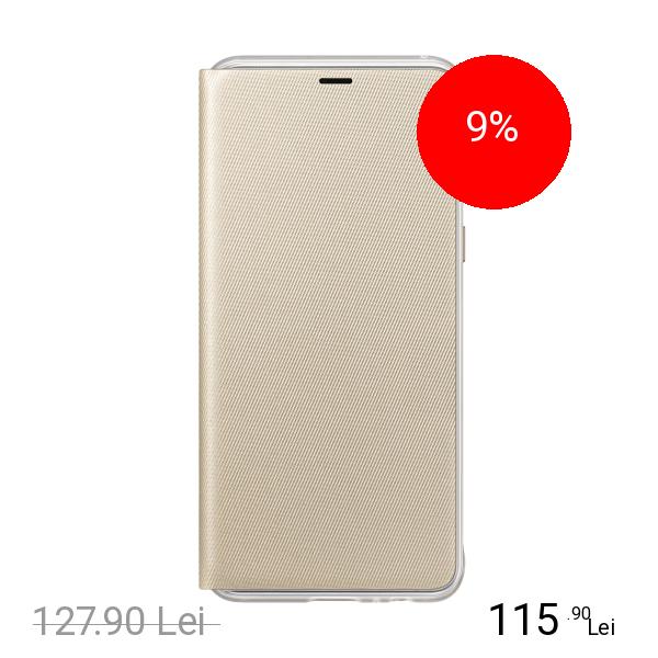 Samsung Husa Agenda Neon Flip Auriu SAMSUNG Galaxy A8 (2018)