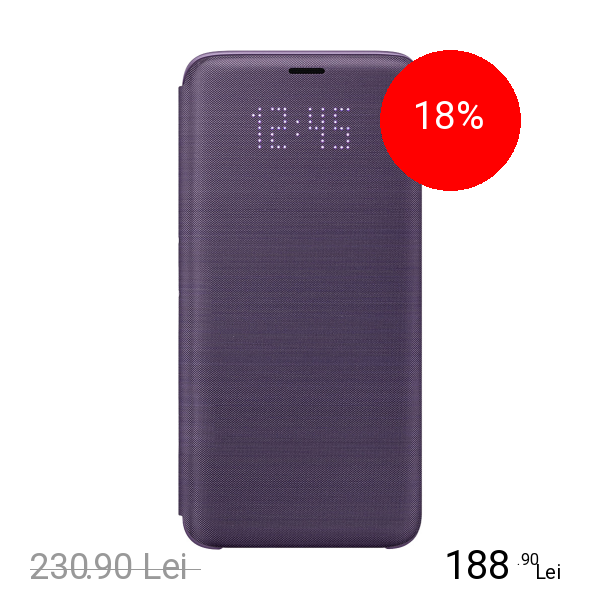 Samsung Husa Agenda LED View Violet SAMSUNG Galaxy S9