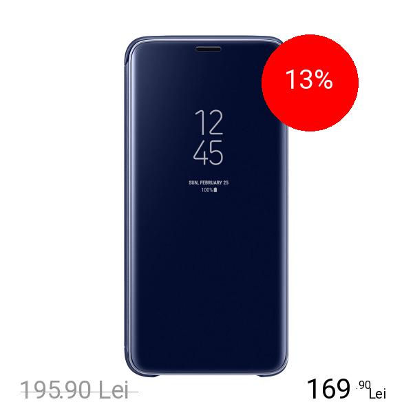 Samsung Husa Agenda Clear View Standing Albastru SAMSUNG Galaxy S9