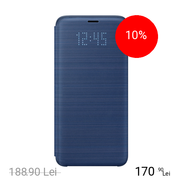 Samsung Husa Agenda Led View Albastru SAMSUNG Galaxy S9