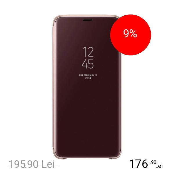 Samsung Husa Agenda Clear View Standing Auriu SAMSUNG Galaxy S9 Plus