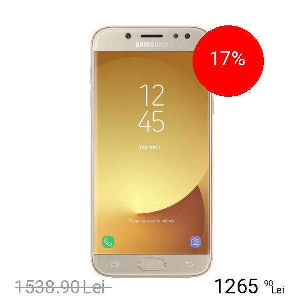 SAMSUNG Galaxy J7 Pro 2017 Dual Sim 64GB LTE 4G Auriu 3GB RAM