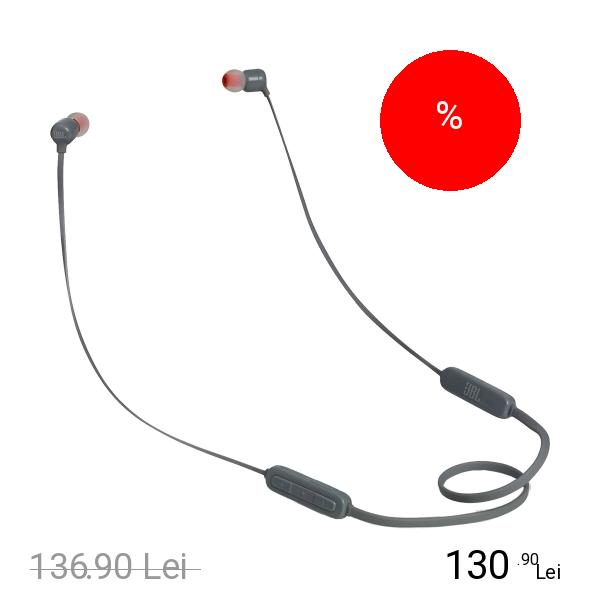 JBL Casti Wireless T110BT In Ear Gri