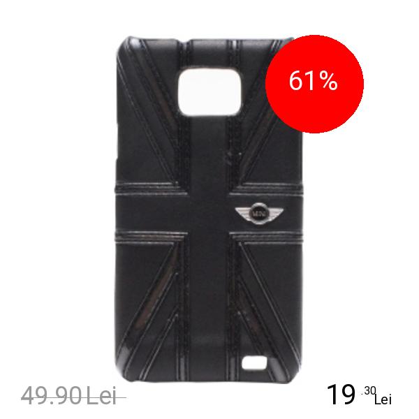 Mini Cooper Husa Capac spate Negru Samsung Galaxy S2