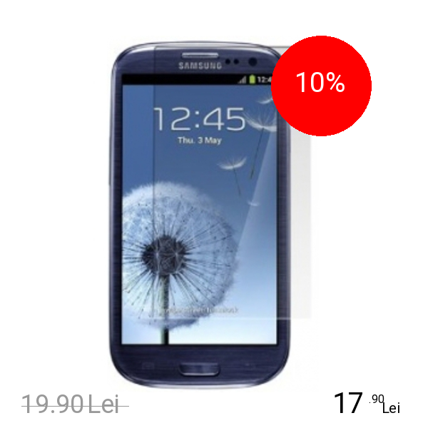 Celly Folie De Protectie Transparenta Alb SAMSUNG Galaxy S3