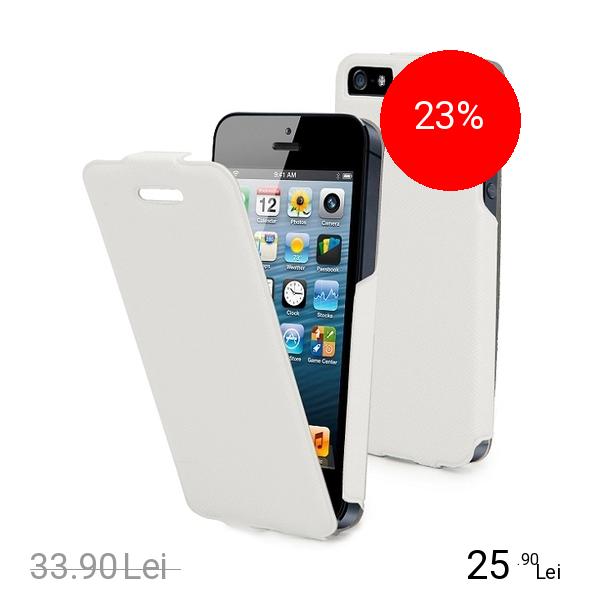 Muvit Husa Flip Alb APPLE iPhone 5s, iPhone SE