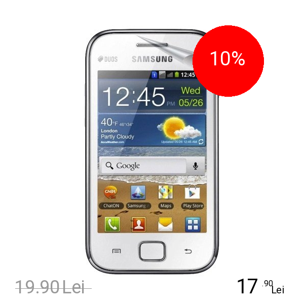 Celly Folie De Protectie Transparenta Alb SAMSUNG Ace Duos