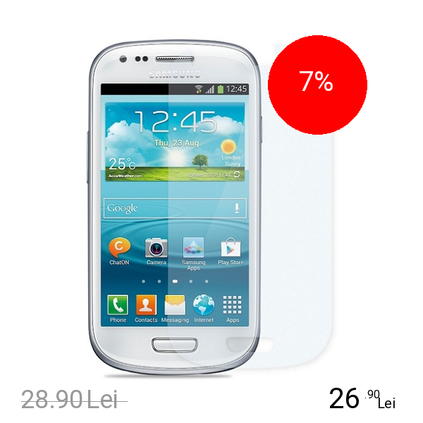 Cellularline Folie De Protectie Transparenta Alb SAMSUNG Galaxy S3 Mini