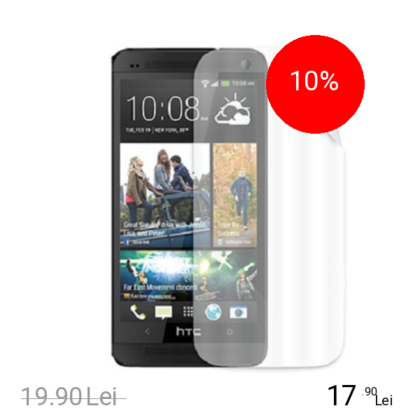 Celly Folie De Protectie Transparenta Alb HTC One