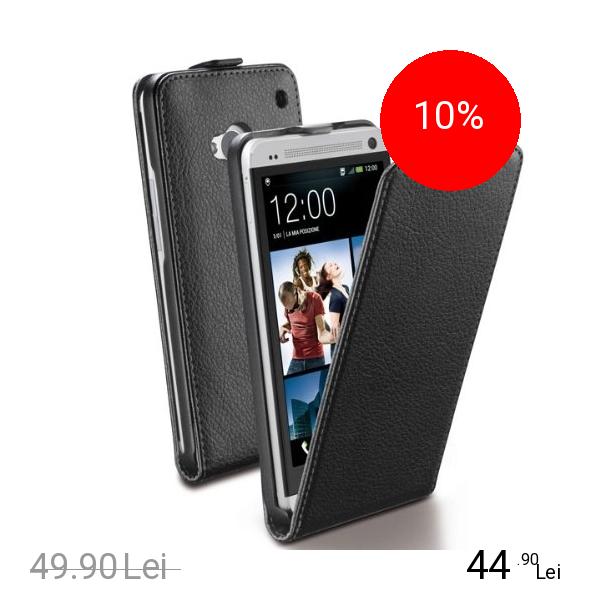 Cellularline Husa Flip ESSENTIAL Negru HTC One
