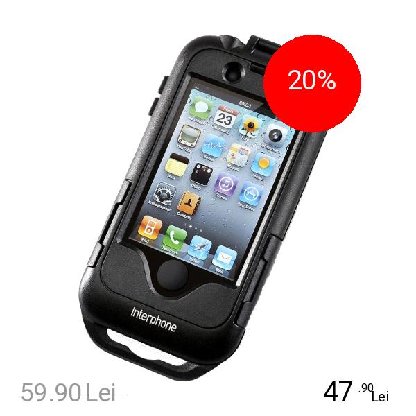 Interphone Husa cu Suport Moto & Bike Negru