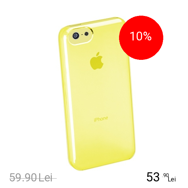 Cellularline Husa Capac Spate Boost Galben APPLE Iphone 5c, iPhone SE