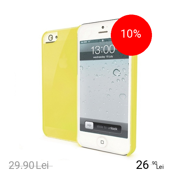 Celly Husa Capac Spate Galben APPLE Iphone 5c, iPhone SE