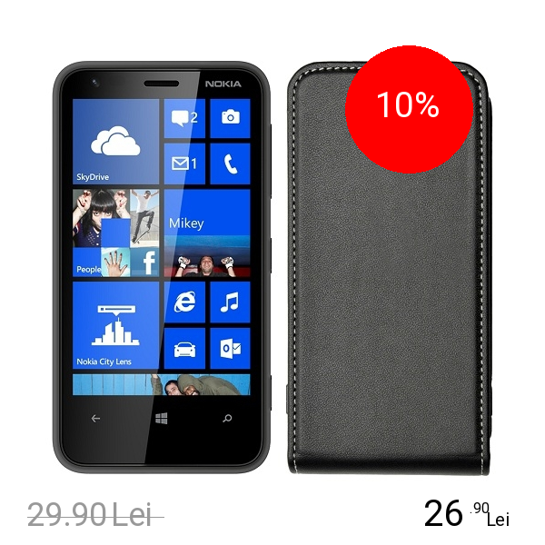 Celly Husa Flip Face Negru NOKIA Lumia 620