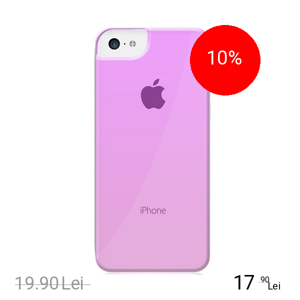 Celly Husa Capac Spate Crystal Roz APPLE Iphone 5c, iPhone SE