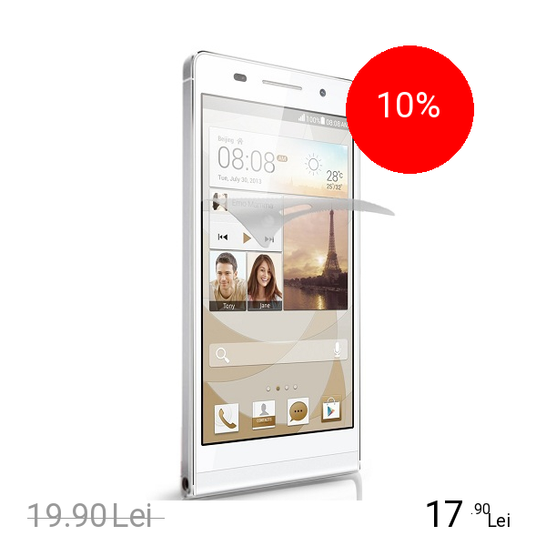 Celly Folie De Protectie Transparenta Alb HUAWEI Ascend P6