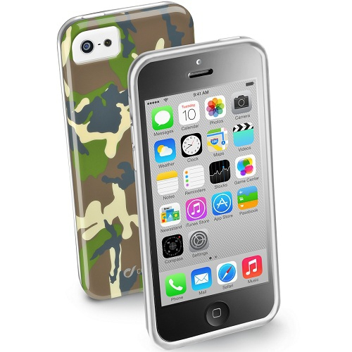 Cellularline Husa Capac spate Army Verde APPLE Iphone 5c