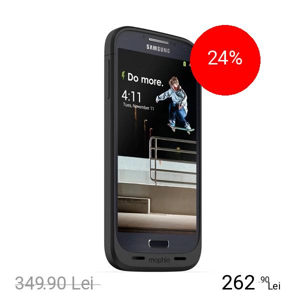 Mophie Baterie Externa + Husa 2300 mAh Juice Pack SAMSUNG Galaxy S4