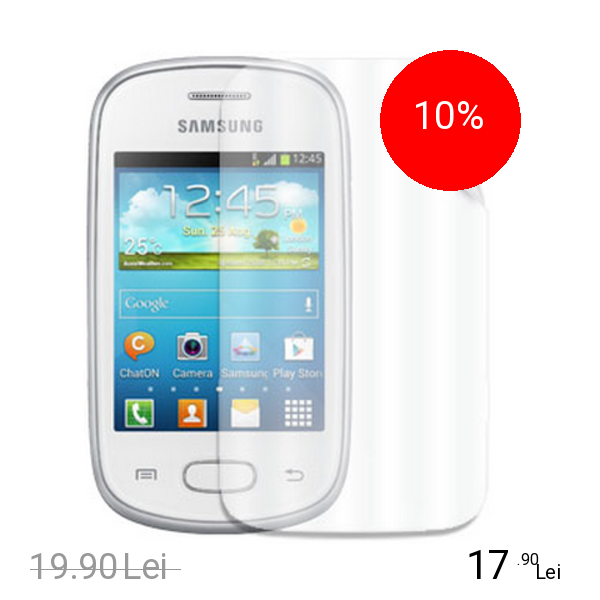 Celly Folie De Protectie Transparenta Glossy Samsung Galaxy Star Alb