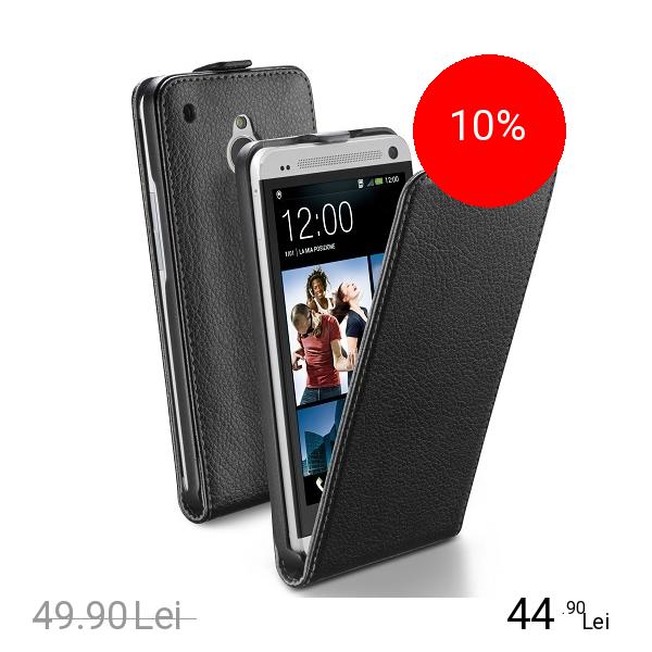Cellularline Husa Flip Essential Negru HTC One Mini