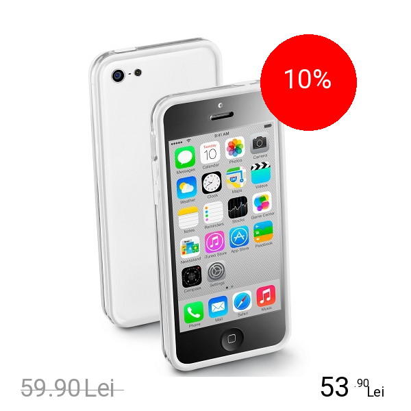 Cellularline Husa Bumper Alb APPLE Iphone 5c