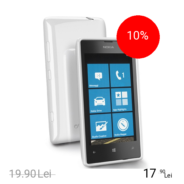 Cellularline Husa Capac spate Shocking Alb NOKIA Lumia 520