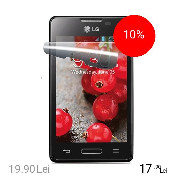 Cellularline Folie De Protectie Transparenta Alb LG Optimus L4 2